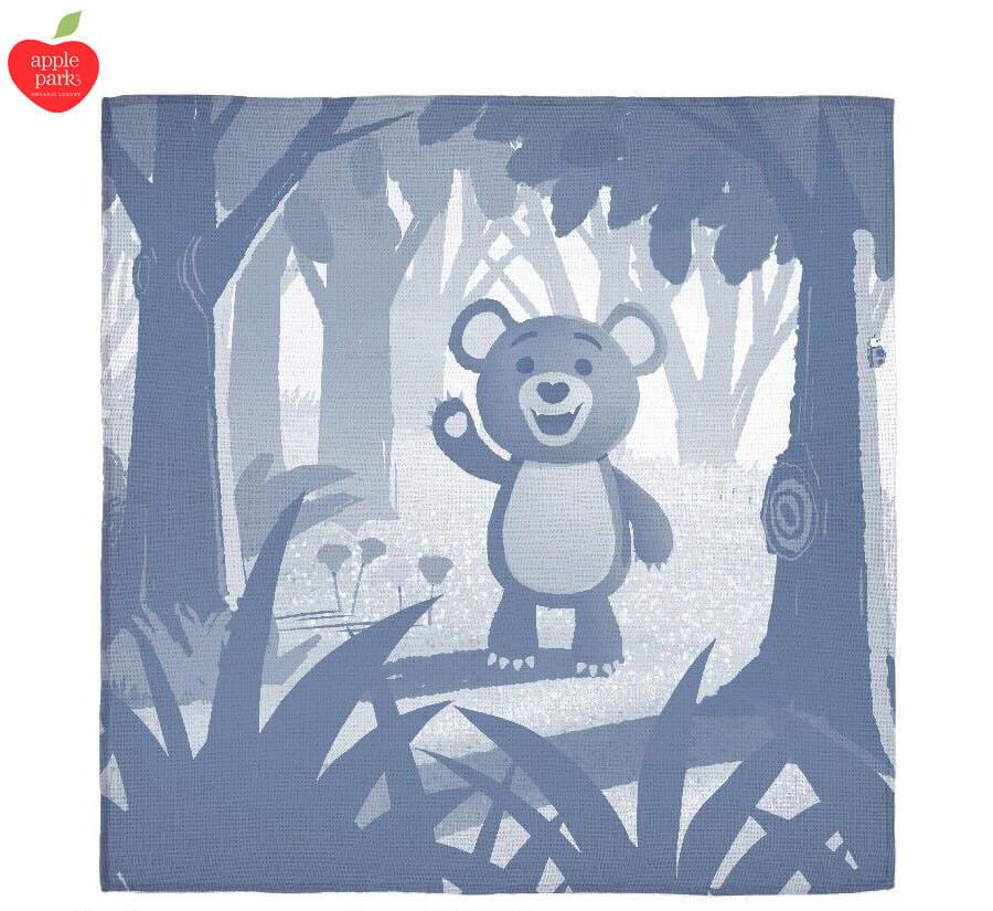 4a7274a88 Cubby Bear Jacquard Muslin Blanket Organic Cotton - Apple Park | The ...