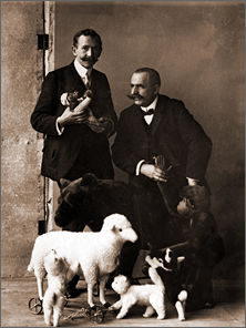 Steiff Luxurious Materials - Paul Steiff (left) and Reinhard Schulte, 1908